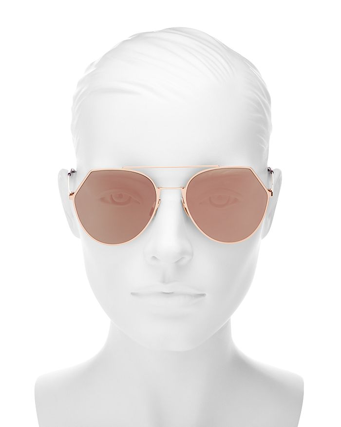26a0b9fcc38f7 Fendi - Women s Eyeline Mirrored Brow Bar Round Sunglasses