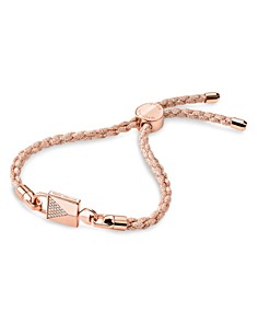 Michael Kors - Custom Kors Sterling Silver Pave Cord Bracelet in 14K Gold-Plated Sterling Silver, 14K Rose Gold-Plated Sterling Silver or Solid Sterling Silver