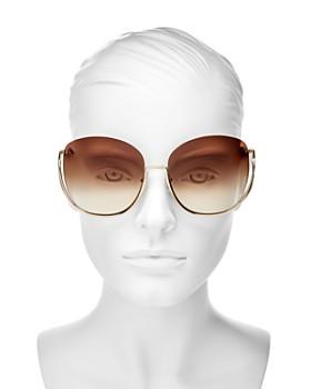 Chloé - Women's Milla Oversized Round Sunglasses, 64mm
