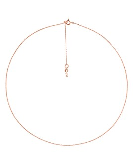"Michael Kors - Custom Kors Sterling Silver Starter Necklace in 14K Gold-Plated Sterling Silver, 14K Rose Gold-Plated Sterling Silver or Solid Sterling Silver, 16"""