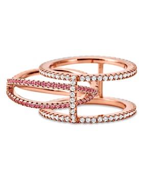 Michael Kors - Custom Kors 14K Rose Gold-Plated Sterling Silver Pavé Nesting Ring Insert