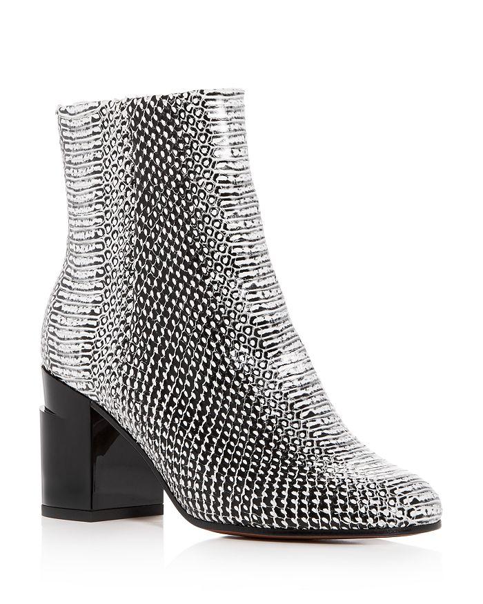 bafc83868 Clergerie Robert Women's Keyla Snake-Embossed Leather Block-Heel ...