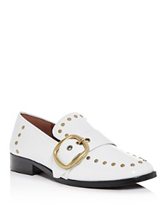 COACH - Women's Alexa Studded Leather Buckle Loafers