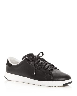 Women's Grand Sport Leather Lace Up Sneakers by Cole Haan