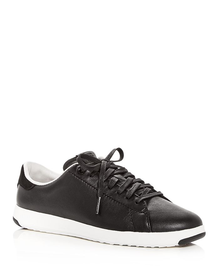 Cole Haan - Women's GrandSport Leather Lace Up Sneakers