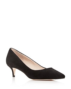 Cole Haan - Women's Vesta Suede Kitten-Heel Pumps
