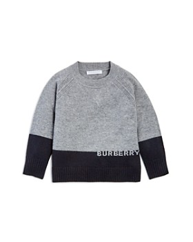 Burberry - Boys' New Core Color-Block Cashmere Sweater - Little Kid, Big Kid