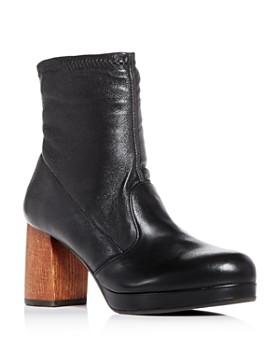Chie Mihara - Women's Quisu Leather Block-Heel Platform Booties