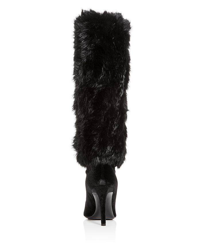 Giuseppe Zanotti Women s Rabbit Fur   Velvet Pointed Toe Boots ... 14300b160