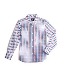 efa9c51dc58 Vineyard Vines Boys' Gingham Whale Shirt - Little Kid, Big Kid ...