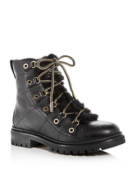 Jimmy Choo - Women's Hillary Leather & Shearling Hiking Boots