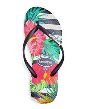 havaianas - Women's Tropical Floral Slim Flip-Flops