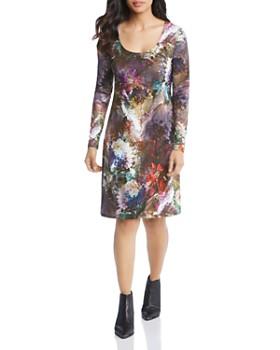 Karen Kane - Abstract Floral-Print Dress
