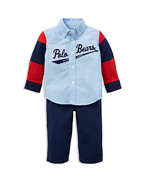 Ralph Lauren Boys' Oxford Shirt & Canvas Pants Set - Baby