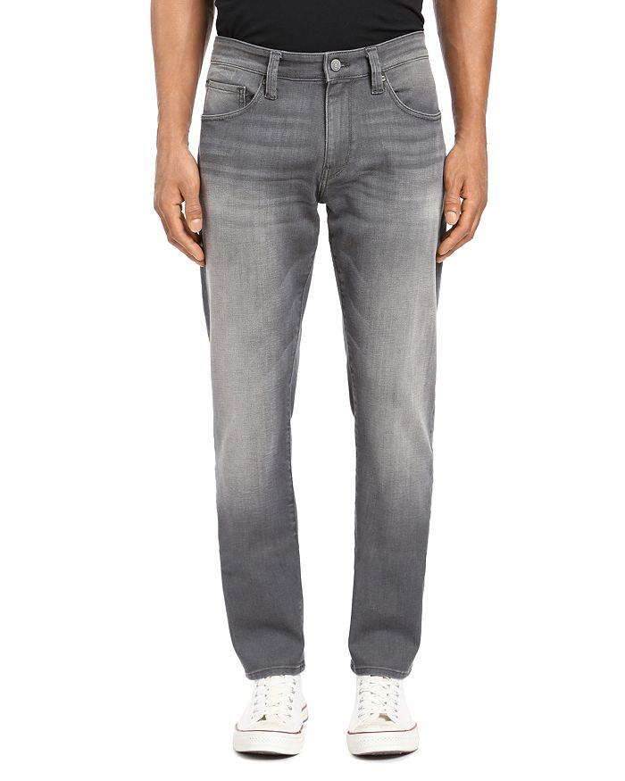 Marcus Straight Slim Fit Jeans in Light Gray Brooklyn