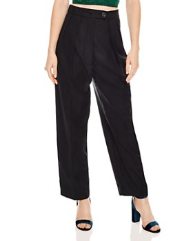 26bf2abe029b Sandro - Havana Pleated High-Waisted Pants ...