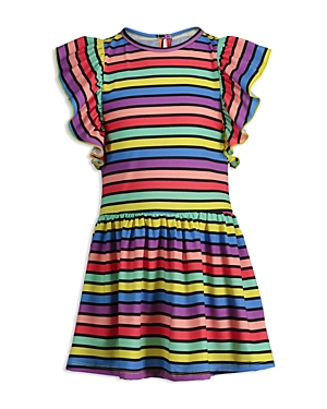 Mini Series Girls' Rainbow Ruffle Dress, Little Kid - 100% Exclusive