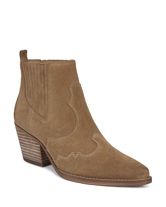 Sam Edelman - Women's Winona Pointed-Toe Mid-Heel Booties