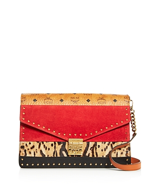 Mcm Clutches PATRICIA MIXED MEDIA LARGE CONVERTIBLE CLUTCH