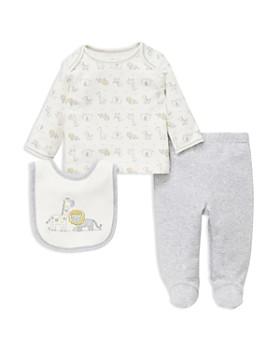 Little Me - Boys' Animal-Print Tee, Footie Pants & Bib Set - Baby