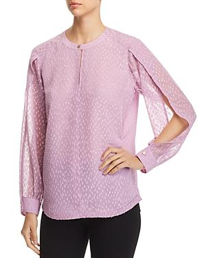 Donna Karan New York Textured Open-Sleeve Top