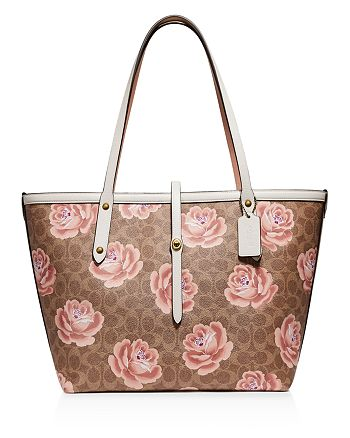 COACH - Market Large Floral Print Leather Tote