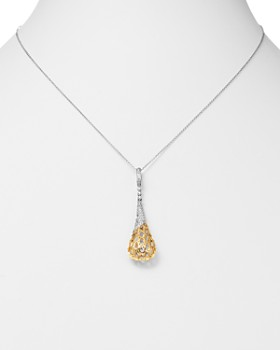 "Bloomingdale's - Diamond Pavé Cage Pendant Necklace in 14K Yellow and White Gold, 18"", .25 ct. t.w. - 100% Exclusive"