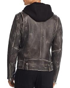 Mackage - Magnus Hooded Leather Motorcycle Jacket