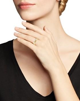 Love and Pride - 14K Yellow Gold Diamond Female Insignia Ring
