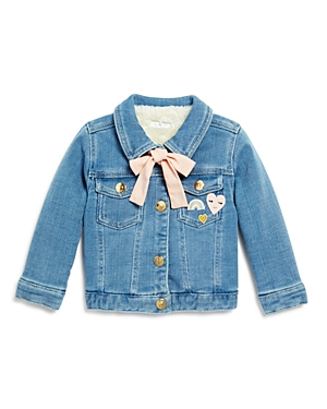 Chloe Girls' Denim Jacket with Embroidered Patches - Baby