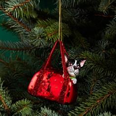 Bloomingdale's Bulldog in Handbag Glass Ornament - 100% Exclusive_0