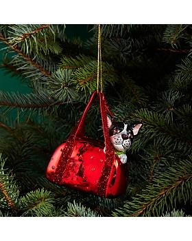 Bloomingdale's - Bulldog in Handbag Glass Ornament - 100% Exclusive