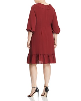 40d6ab3c0839 ... Adrianna Papell Plus - Ruffled Faux-Wrap Dress