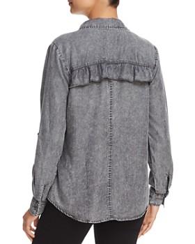 Billy T - Chambray Ruffle Back Shirt