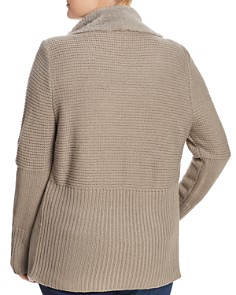 Bagatelle Plus - Faux Shearling Draped Jacket