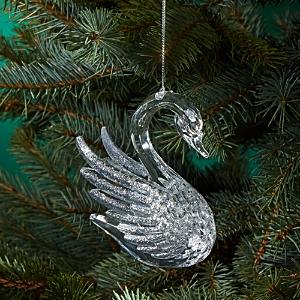 Bloomingdale's Glitter Swan Ornament - 100% Exclusive