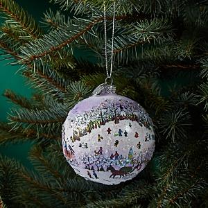 Michael Storrings Central Park Sledding Glass Ball Ornament
