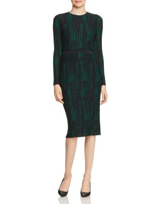 Etizia Textured Long Sleeve Dress by Boss