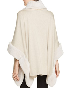 Capote - Sian Faux-Fur Trimmed Poncho