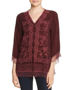JOHNNY WAS ASSIC EMBROIDERED TOP