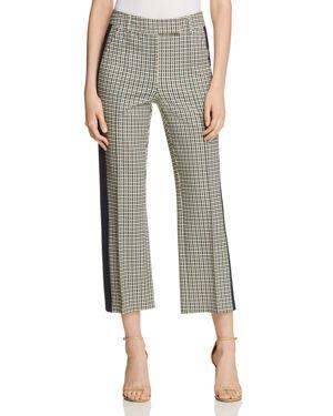 Martine Straight Cropped Pants, Green Glen