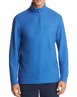 Vineyard Vines Reverse Oxford Pique Quarter-Zip Pullover