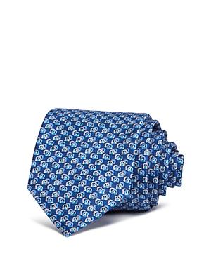 Salvatore Ferragamo Fiore Scatter Gancini Silk Classic Tie