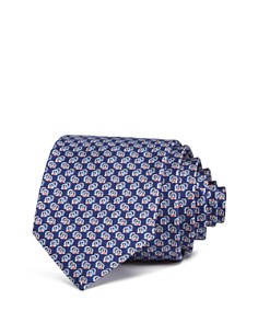 Salvatore Ferragamo Fiore Scatter Gancini Silk Classic Tie - Bloomingdale's_0