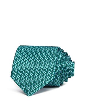 Salvatore Ferragamo Fiocco Linked Gancini Silk Classic Tie
