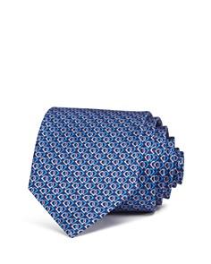 Salvatore Ferragamo Fiocco Linked Gancini Silk Classic Tie - Bloomingdale's_0