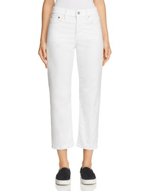 WEDGIE STRAIGHT CORDUROY JEANS IN MARSHMALLOW