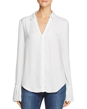 Paige Abriana Pleated-Cuff Shirt