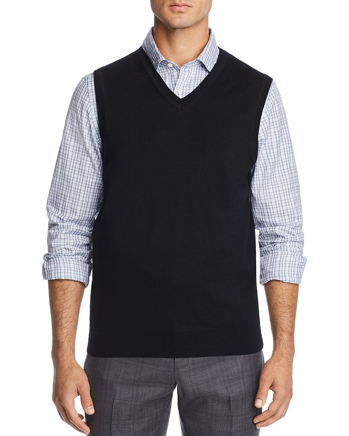 The Men's Store at Bloomingdale's - V-Neck Merino Wool Vest - 100% Exclusive