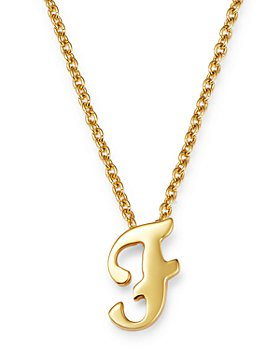 """Roberto Coin - 18K Yellow Gold Cursive Initial Necklace, 16"""""""